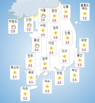 [오늘 날씨] 불볕더위.열대야, 곳곳 소나기...태풍 '루핏', 어디로?